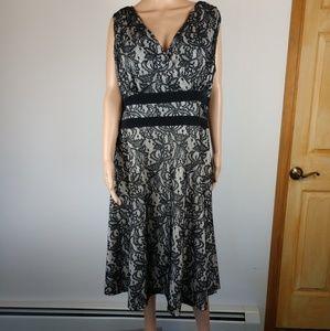 AA Studio Classic Lace Party Dress sz 16 W EUC